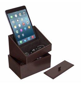 Stackers Chocolate Brown Mini Ensemble Téléphone Titulaire & Boîte de Montre