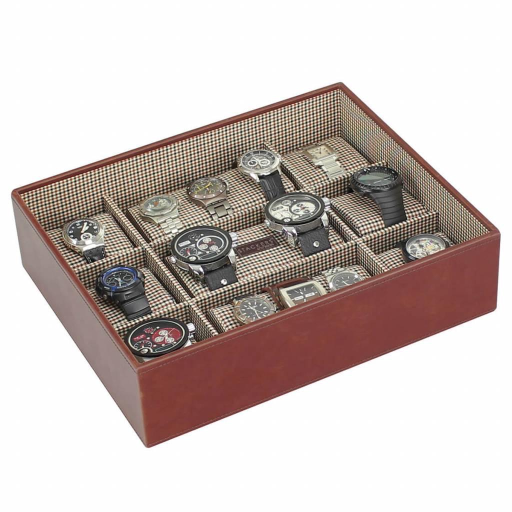 Tan XL horlogedoos 30 pcs set