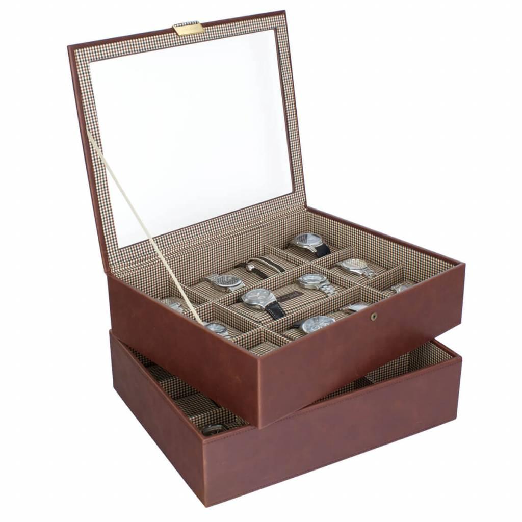 Tan XL Boîte de Montre 30 pcs Ensemble