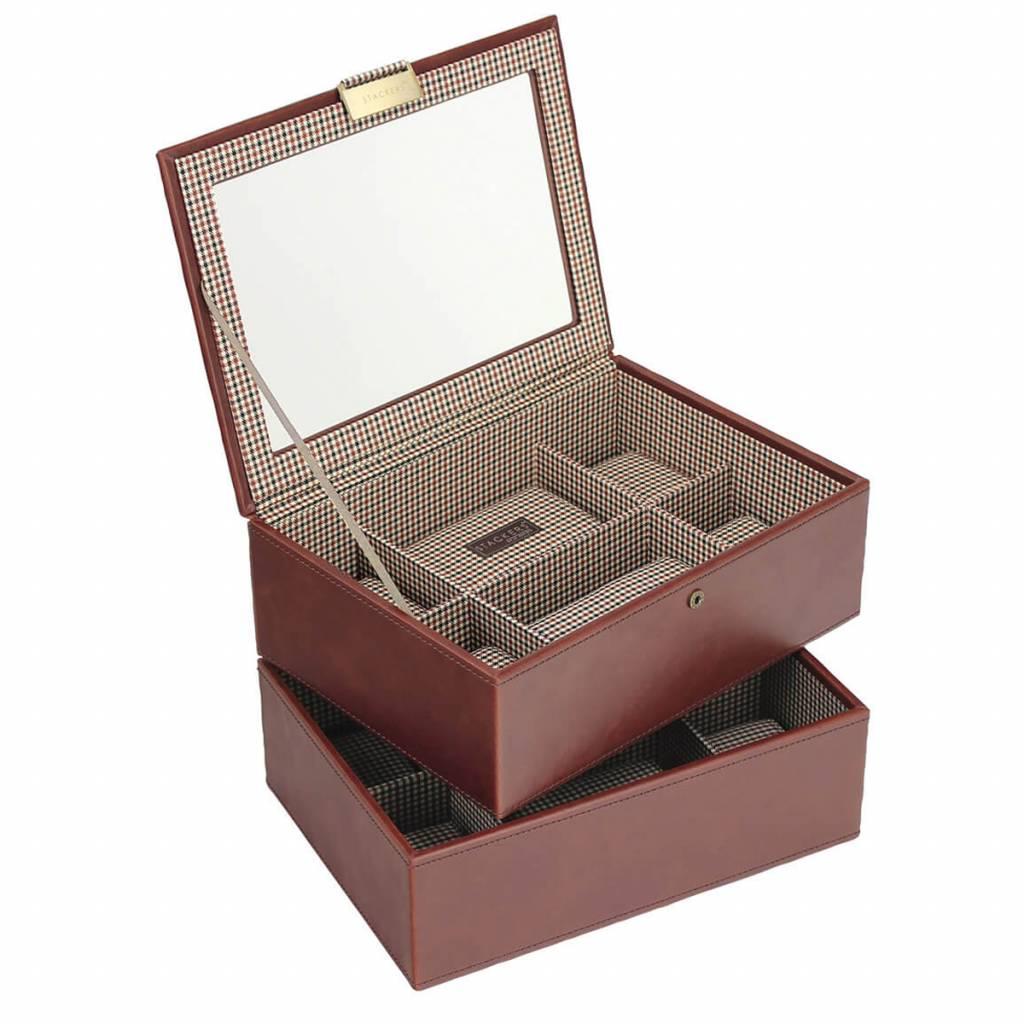 Tan Large Uhrenbox 16 Stck Set