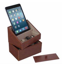 Stackers Tan Mini Set Telefonhalter & Uhrenbox