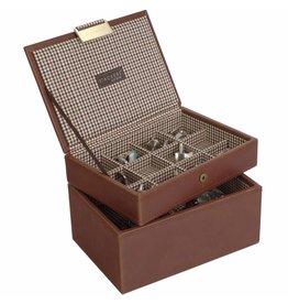 Stackers Tan Mini Set Manschettenknöpfe & Uhrenbox