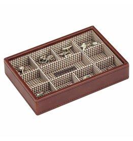Stackers Tan Mini Manschettenknöpfe Box Öffnen