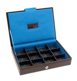Stackers Brown & Stripes Mini Manschettenknöpfe Box