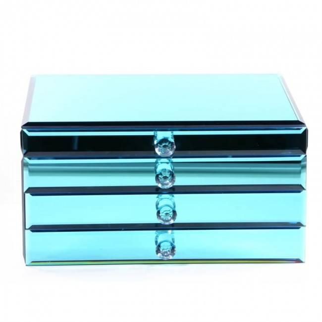 Glazen Sieradendoos Blue