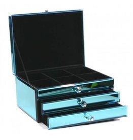 Boutique Schmuckkasten aus Glas Blau