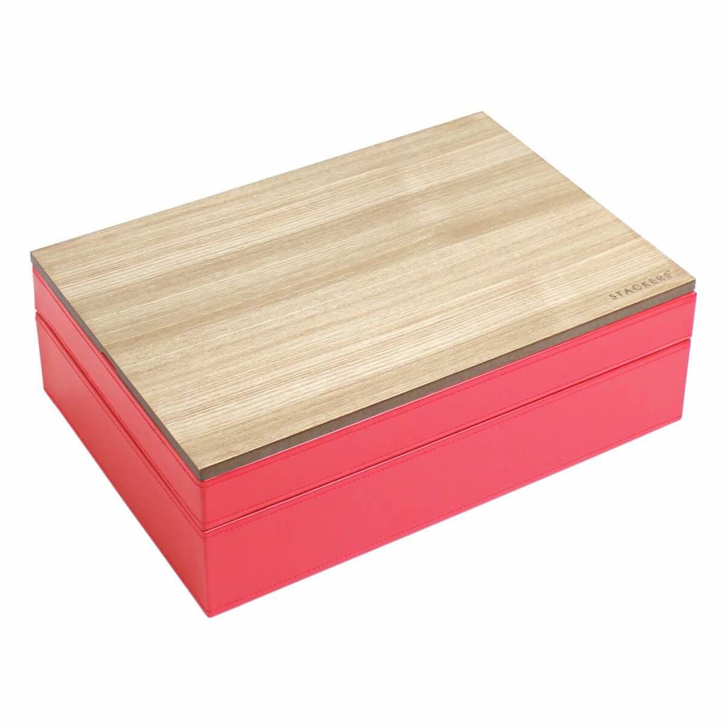 Sieradendoos Red Supersize set mit holzdeckel