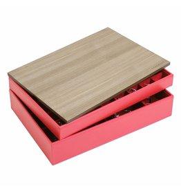 Stackers Boîte à Bijoux Red Supersize Ensemble Bois