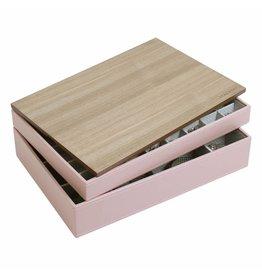 Stackers Boîte à Bijoux Soft Pink Supersize Ensemble Bois