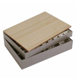 Stackers Boîte à Bijoux Mink Supersize Ensemble Bois