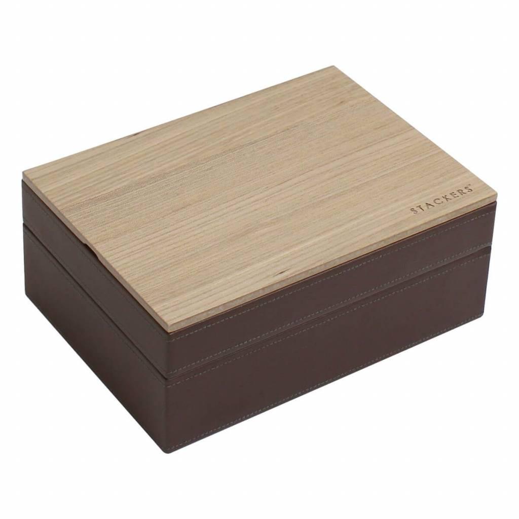 Sieradendoos Chocolate Brown Classic set Wood