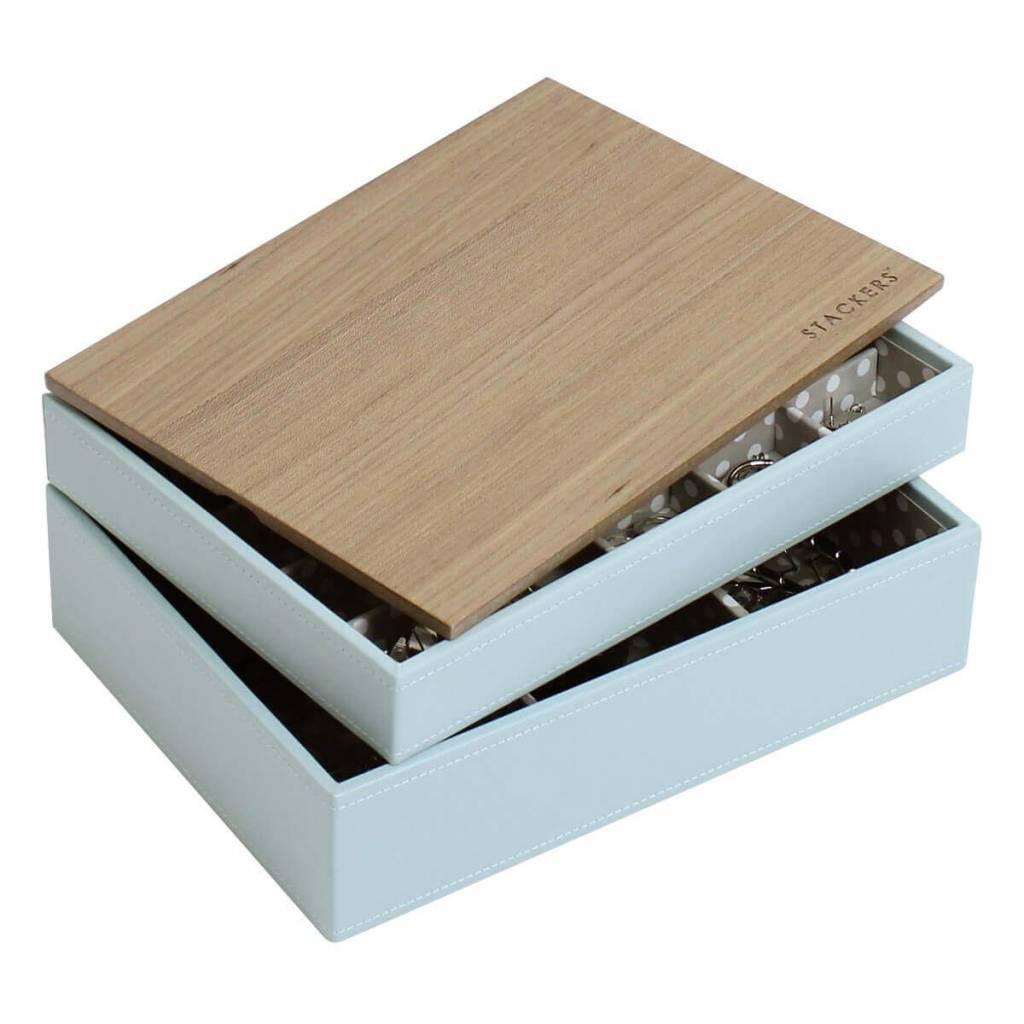 Sieradendoos Duck Egg Classic set Wood