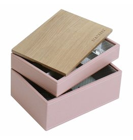 Stackers Sieradendoos Soft Pink Mini set Wood