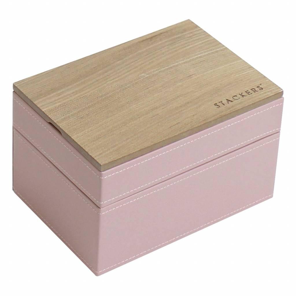 Sieradendoos Soft Pink Mini set Wood