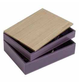 Stackers Schmuckkasten Purple Classic Set Holz