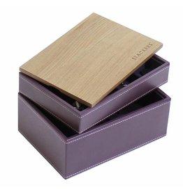 Stackers Boîte à Bijoux Purple Mini Ensemble Bois