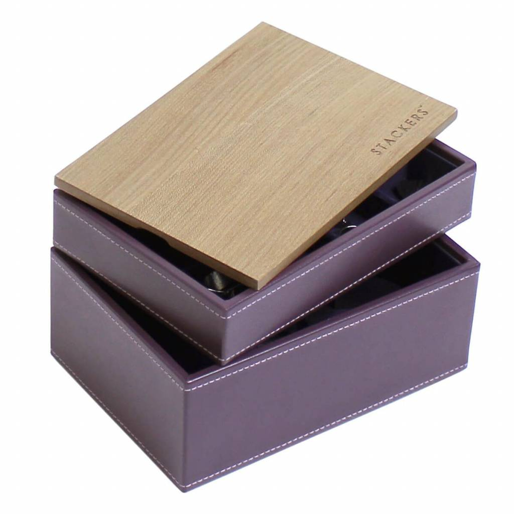 Sieradendoos Purple Mini set Wood