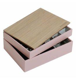 Stackers Boîte à Bijoux Soft Pink Classic Ensemble Bois