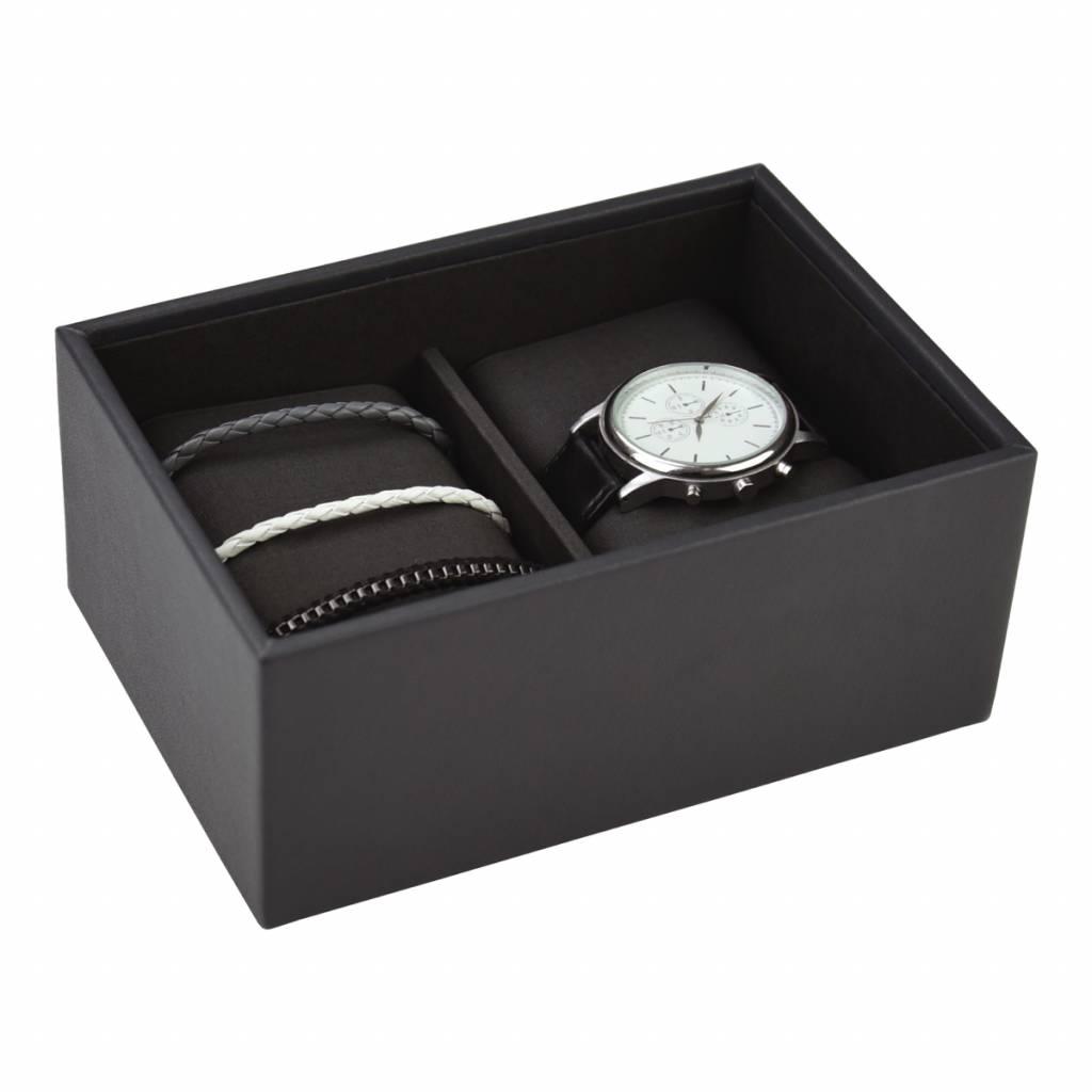 Mini Charcoal horlogedoos open