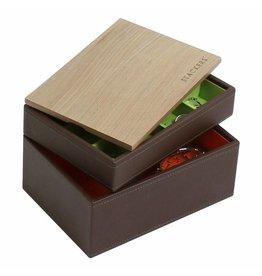 Stackers Boîte à Bijoux Chocolate Brown Mini Ensemble Bois