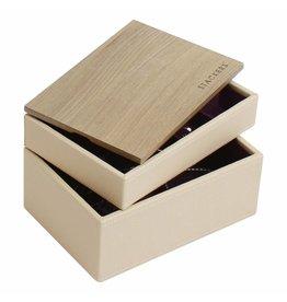 Stackers Schmuckkasten Cream Mini Set Holz