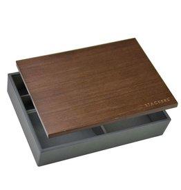 Stackers Classic Charcoal Boîte de Rangement avec Couvercle