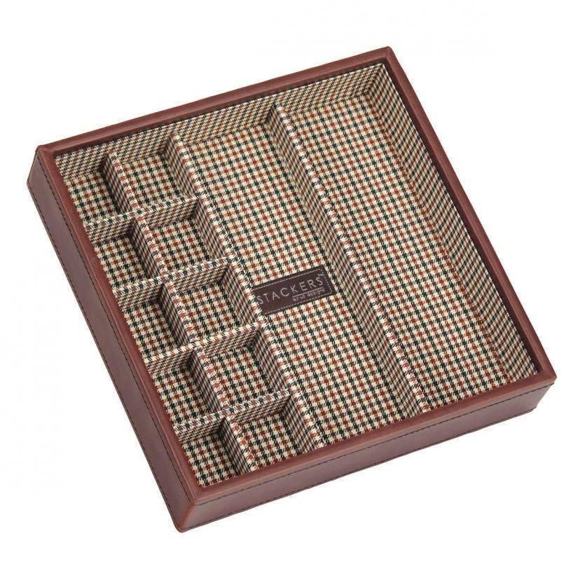 Tan Square Cufflink Layer