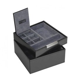 Stackers Black Square Valet & Watchbox