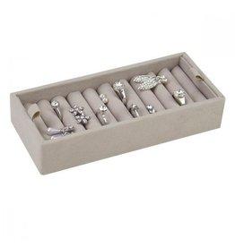 Stackers Boîte à Bijoux Mink Affichage des Anneaux