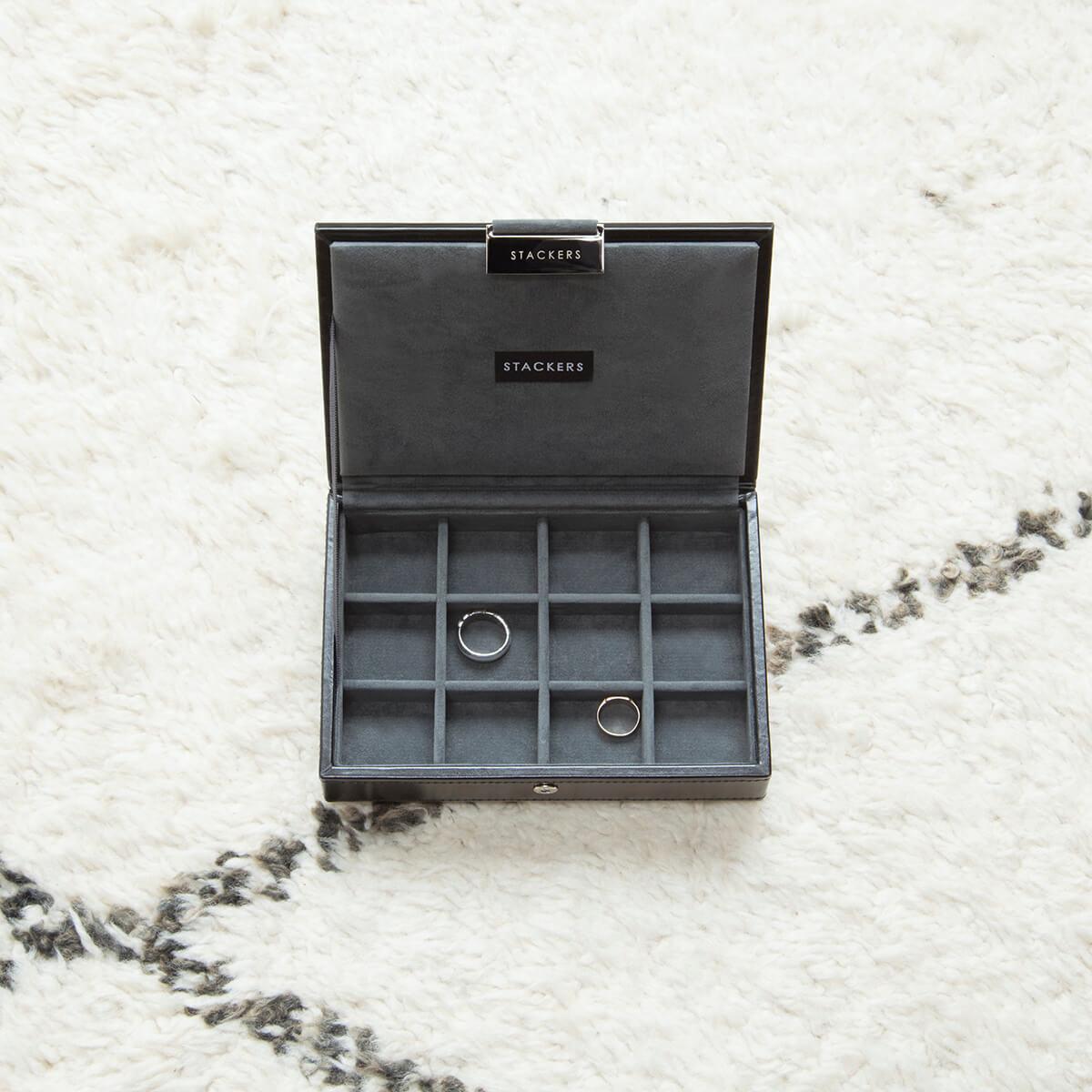 Stackers Black Mini manchetknopen doos