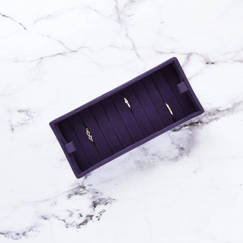 Sieradendoos Purple Ringen Display