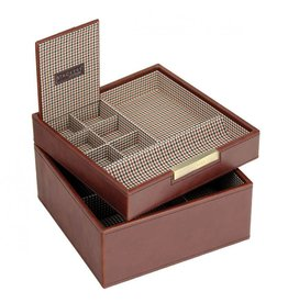 Stackers Tan Square Valet & Watchbox