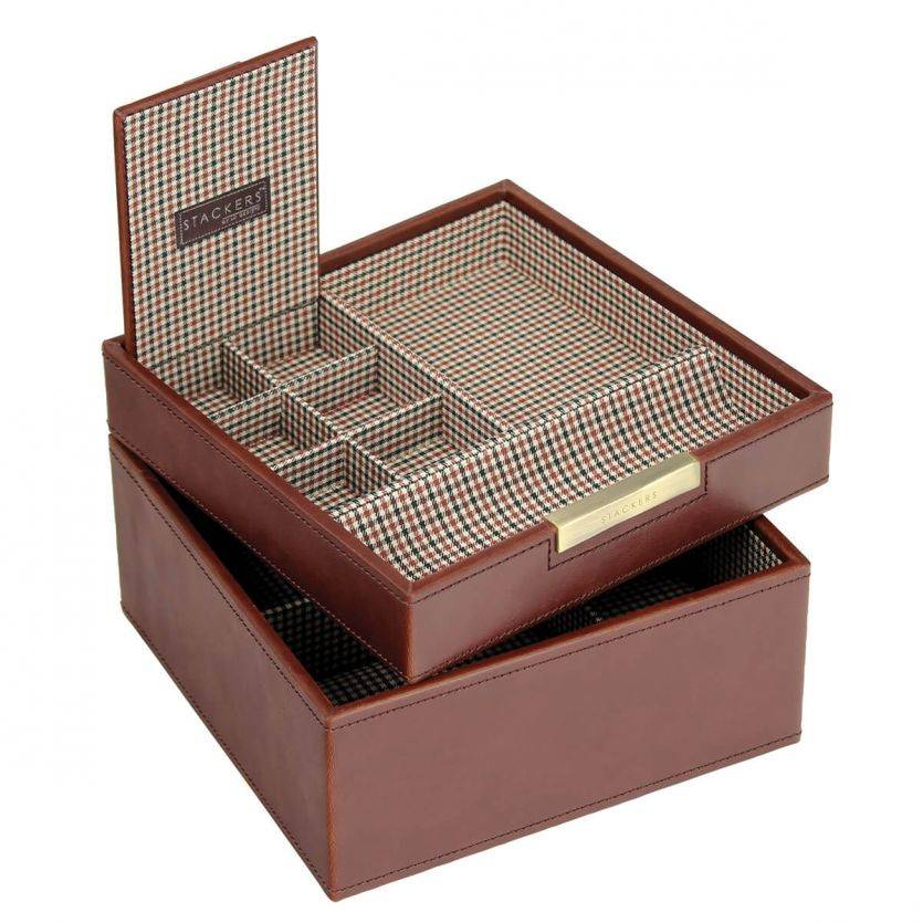 Tan Square Valet & Watchbox
