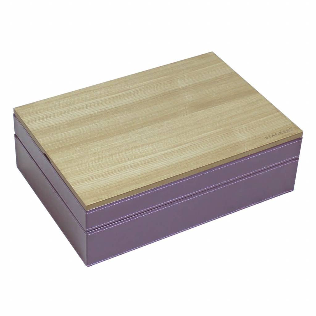 Sieradendoos Purple Supersize set - Wood