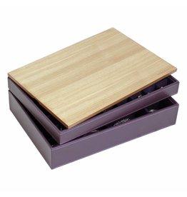 Stackers Schmuckkasten Purple Supersize Set - Holz