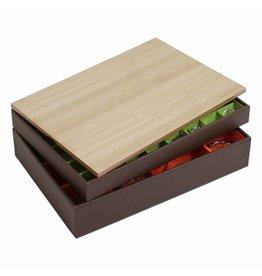 Stackers Schmuckkasten Chocolate Brown Supersize Set - Holz
