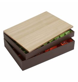 Stackers Sieradendoos Chocolate Brown Supersize set - Wood