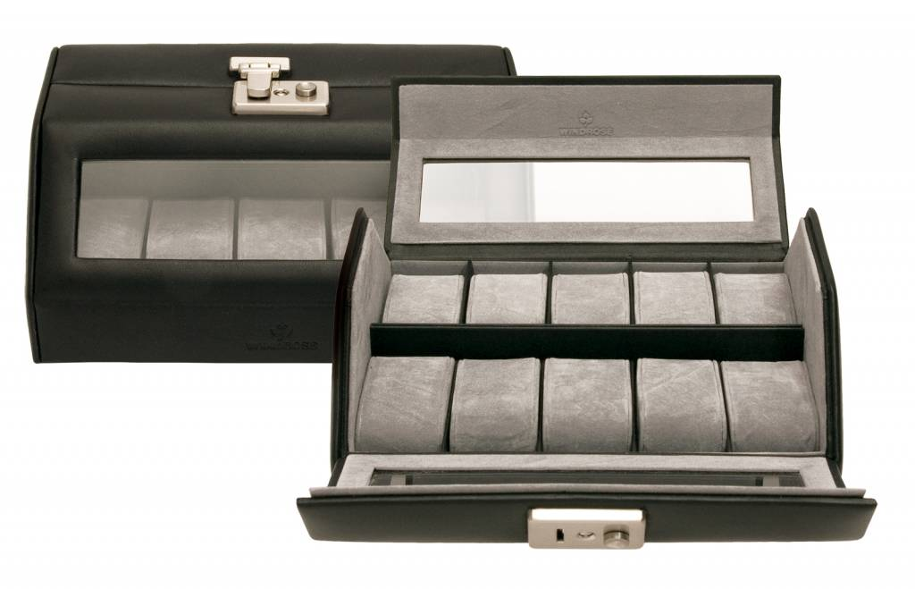 Uhrenbox für 10 Uhren mit Fenster