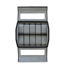 Windrose Uhrenbox für 10 Uhren mit Fenster