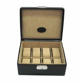 Windrose Uhrenbox für 8 Uhren Schwarz