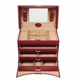 Windrose Boîte à Bijoux Merino Rouge