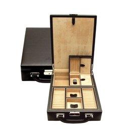 Windrose Safekoffer für Schmuck aus Leder