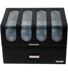 Windrose Uhrenbox 16 Stück Chrono Black