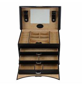 Windrose Boîte à Bijoux Merino Noir