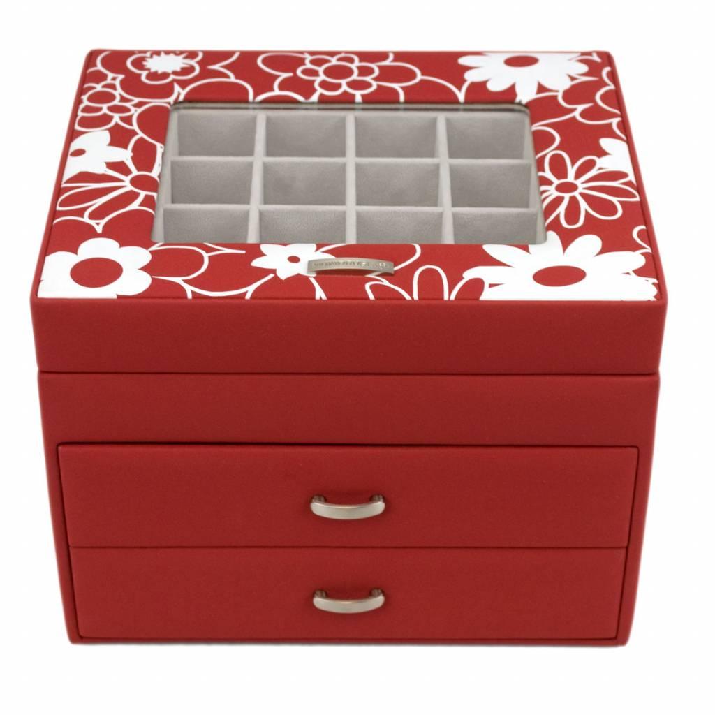 Charm Aufbewahrungsbox Blumen Rot