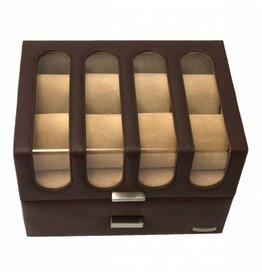 Windrose Uhrenbox 16 Stücke Chrono Braun