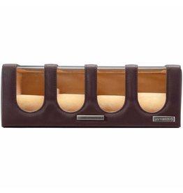 Windrose Uhrenbox 8 Stück Chrono braun
