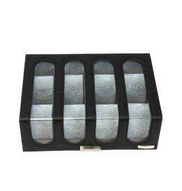 Windrose Uhrenbox für 8 Uhren Chrono Schwarz