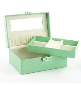 Davidts Boîte à Bijoux Galuchat Vert