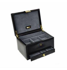 Dulwich Design Boite à montres en cuir 3 pièces noir